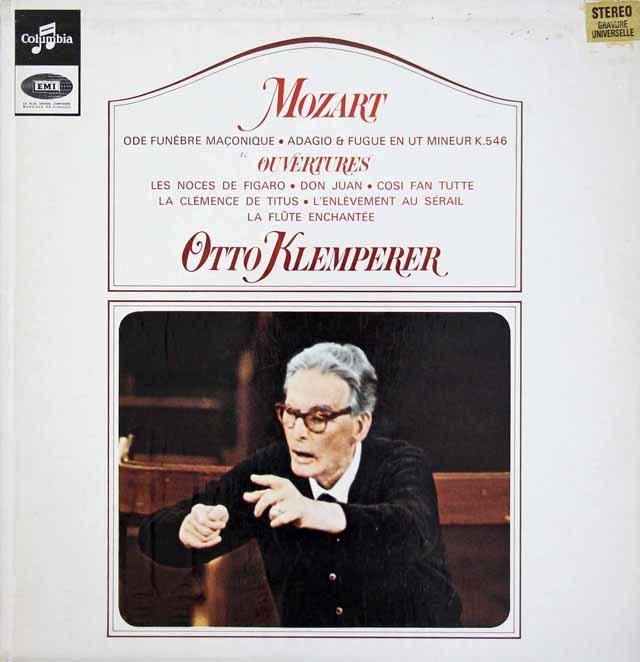 クレンペラーのモーツァルト/序曲集 仏Columbia 3010 LP レコード