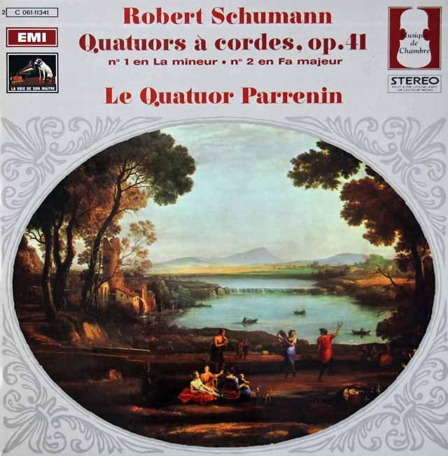 パルナン四重奏団のシューマン/弦楽四重奏曲第1&2番 仏EMI(VSM) 3010 LP レコード