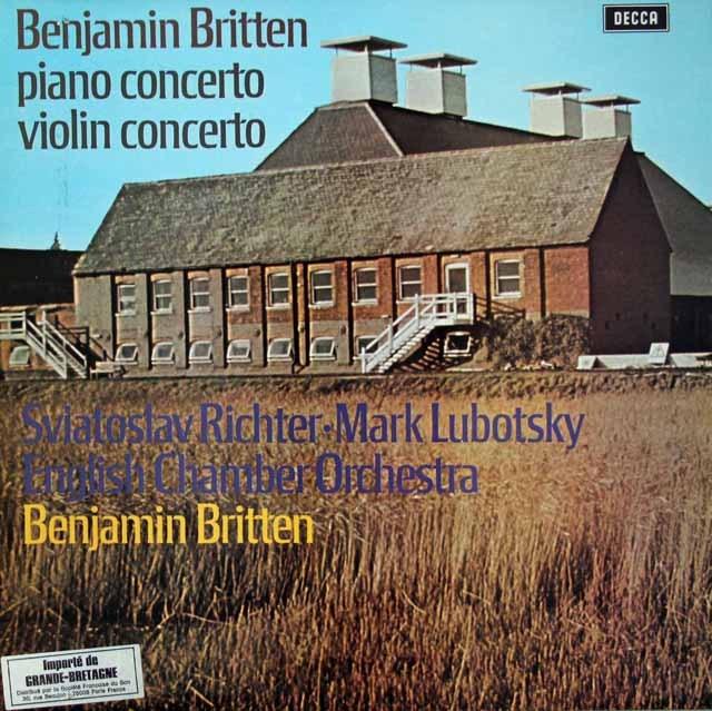 【オリジナル盤】 リヒテル、ルボツキー、ブリテンの協奏曲集 英DECCA 3392 LP レコード