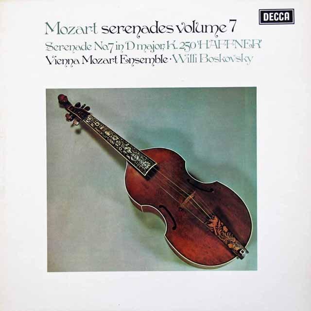 【オリジナル盤】 ボスコフスキーのモーツァルト/セレナーデ第7番「ハフナー」 (セレナーデ集 第7巻) 英DECCA 3010 LP レコード