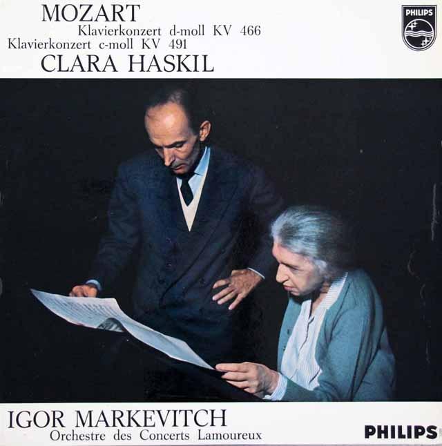 ハスキル&マルケヴィチのモーツァルト/ピアノ協奏曲第20&24番 蘭PHILIPS 2935 LP レコード