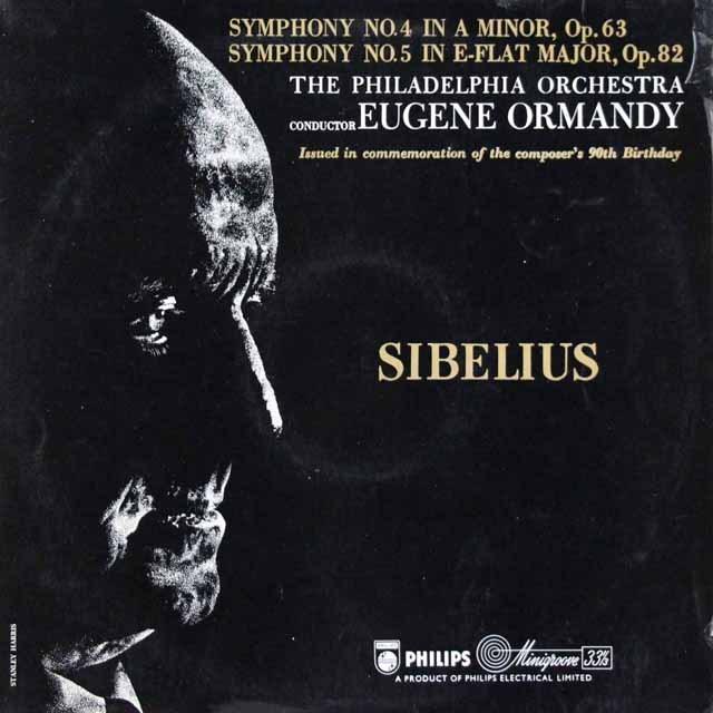 オーマンディのシベリウス/交響曲第4&5番 英PHILIPS 3398 LP レコード