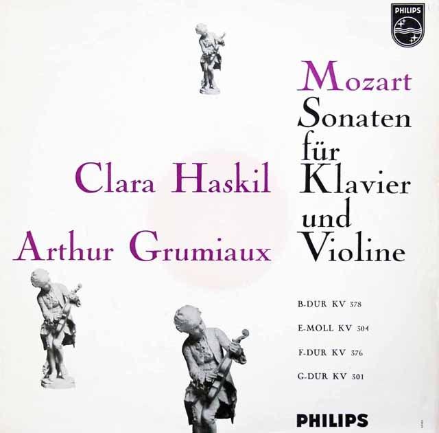 グリュミオー&ハスキルのモーツァルト/ヴァイオリンソナタ集 蘭PHILIPS 3010 LP レコード