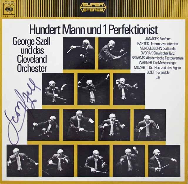 【直筆サイン入り】 セルのドヴォルザーク/スラヴ舞曲第8番ほか管弦楽曲集 独CBS 3392 LP レコード
