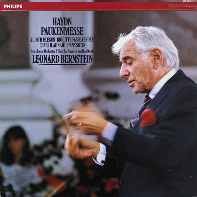 バーンスタインのハイドン/「戦時のミサ(太鼓のミサ)」  蘭PHILIPS  2636 LP レコード