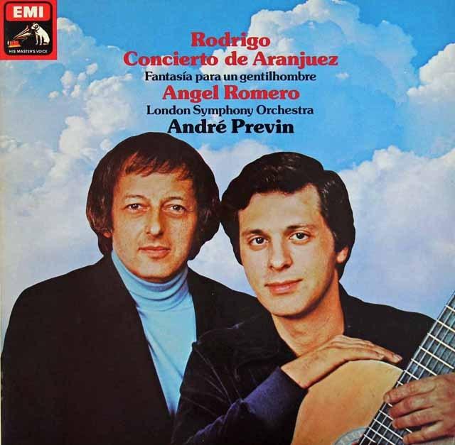 ロメロ&プレヴィンのロドリーゴ/アランフェス協奏曲ほか 独EMI 3398 LP レコード