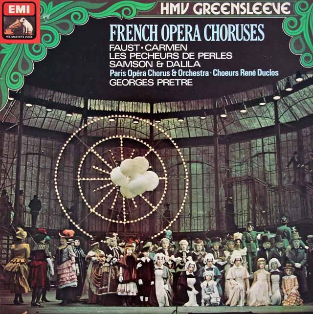 プレートルのフランス・オペラ・コーラス集 英EMI 3398 LP レコード