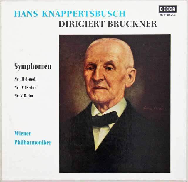 クナッパーツブッシュのブルックナー/交響曲第3~5番 独DECCA 3010 LP レコード
