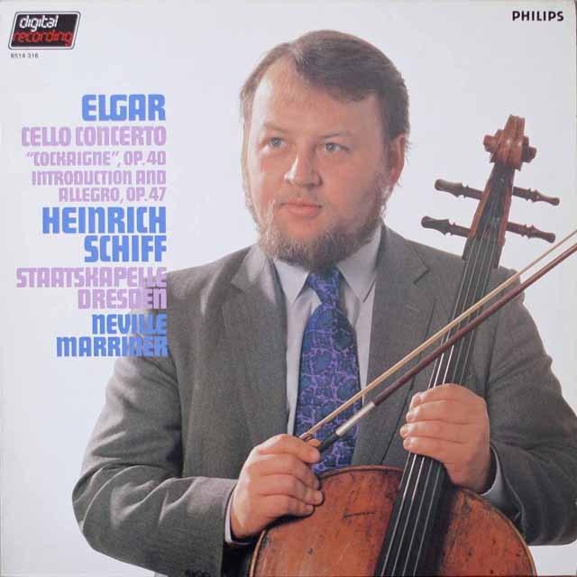 シフ&マリナーのエルガー/チェロ協奏曲ホ短調ほか  蘭PHILIPS 2621 LP レコード