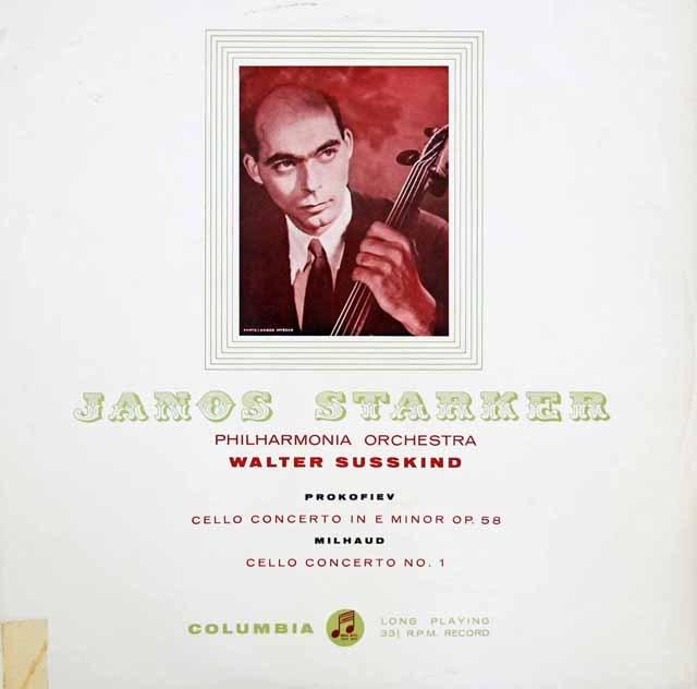【オリジナル盤】 シュタルケル&ジュスキントのプロコフィエフ&ミヨー/チェロ協奏曲集 英Columbia 3398 LP レコード