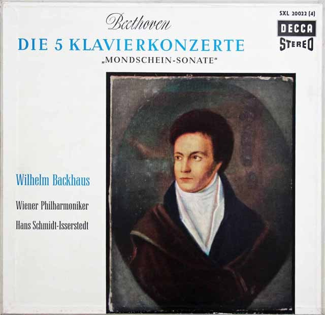バックハウス&イッセルシュテットのベートーヴェン/ピアノ協奏曲全集 独DECCA 3010 LP レコード