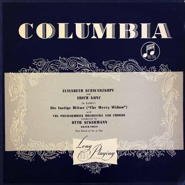 【オリジナル盤】シュヴァルツコップ&クンツらのレハール/「メリー・ウィドウ」 英Columbia 2935 LP レコード