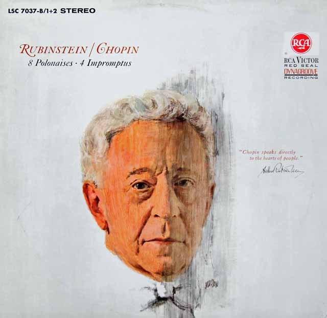 ルービンシュタインのショパン/ポロネーズ&即興曲集 独RCA 2935 LP レコード