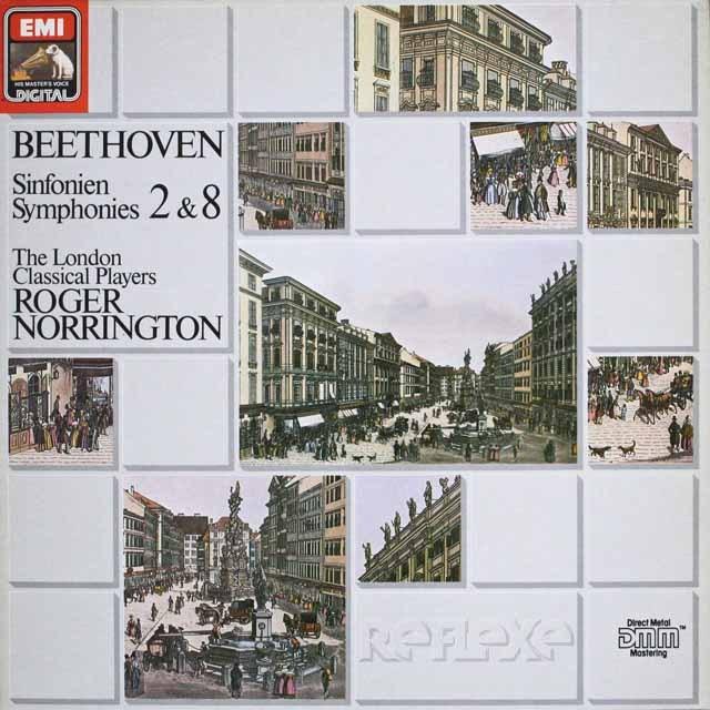 ノリントンのベートーヴェン/交響曲第2、8番 独EMI 3228 LP レコード