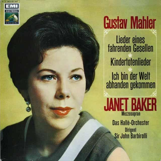 ジャネット・ベイカー&バルビローリのマーラー/「さすらう若者の歌」&「亡き子を偲ぶ歌」ほか 独EMI 3228 LP レコード