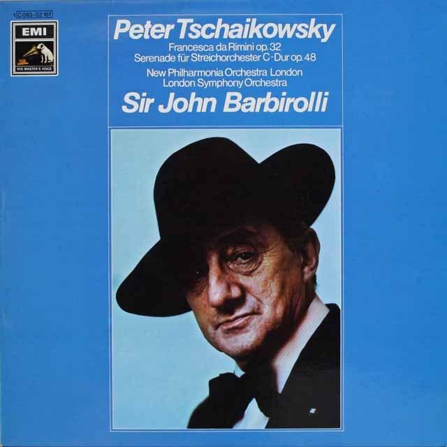 バルビローリのチャイコフスキー/幻想曲《フランチェスカ・ダ・リミニ》ほか 独EMI 3228 LP レコード