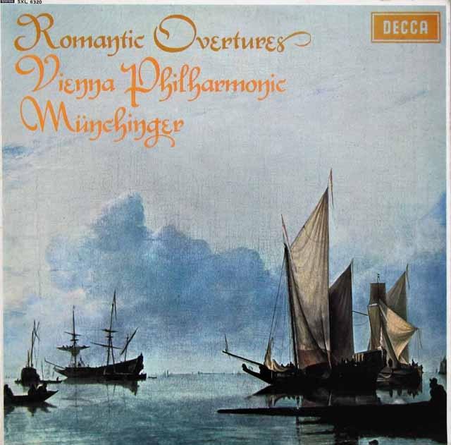 【オリジナル盤】 ミュンヒンガーのロマンティック序曲集 英DECCA 3283 LP レコード