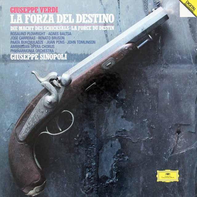 シノーポリのヴェルディ/「運命の力」全曲 独DGG 2935 LP レコード
