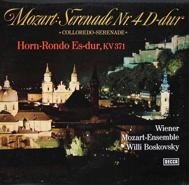 ボスコフスキーのモーツァルト/セレナーデ第4番ほか 独DECCA 3283 LP レコード