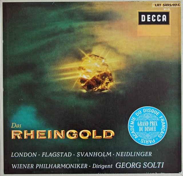 【モノラル】 ショルティのワーグナー/「ラインの黄金」 独DECCA 3218 LP レコード