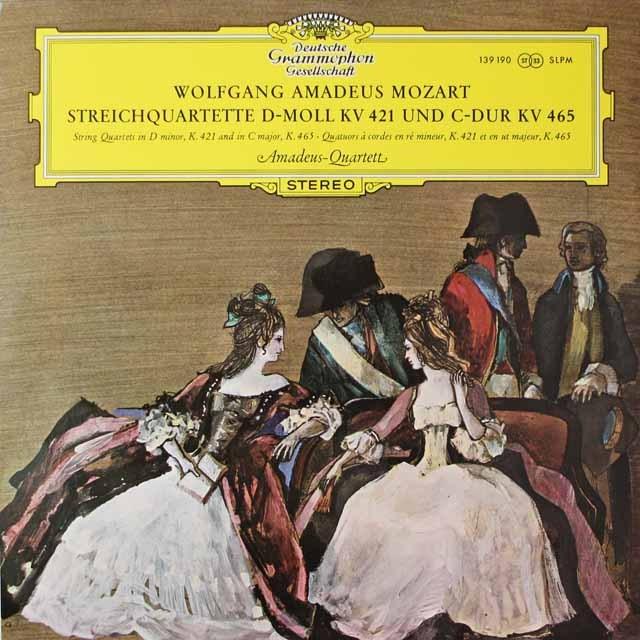 アマデウス四重奏団のモーツァルト/弦楽四重奏曲第19番 「不協和音」ほか  独DGG 2621 LP レコード
