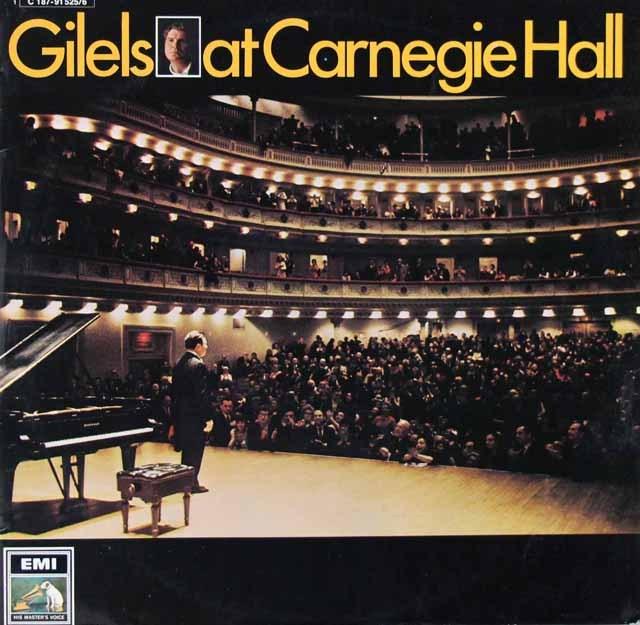 ギレリスのカーネギーホールコンサート 独EMI 3283 LP レコード