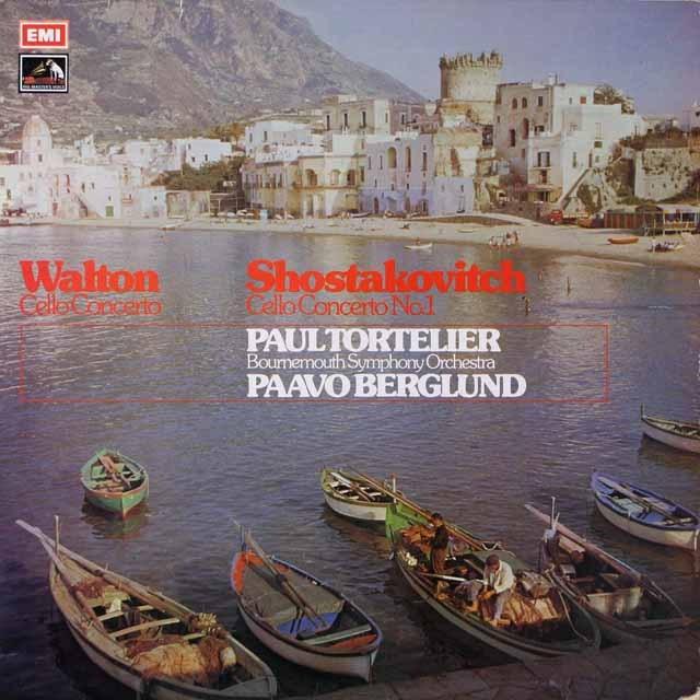 トルトゥリエのウェルト&ショスタコーヴィッチ/ンチェロ協奏曲集  英EMI  2637 LP レコード
