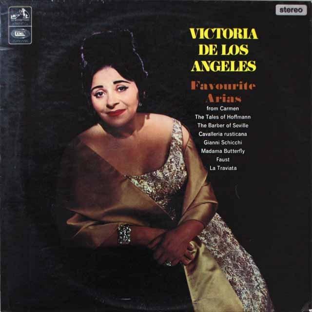 ロス・アンヘレスのオペラ・アリア集  英EMI  2637 LP レコード
