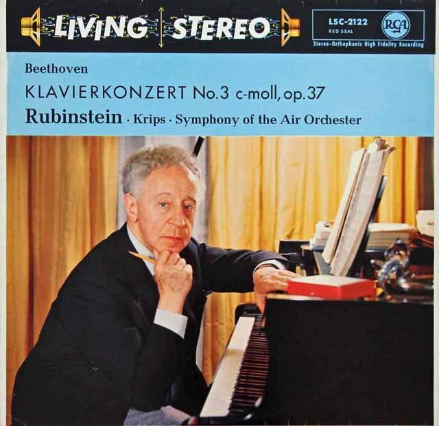 ルービンシュタインのベートーヴェン/ピアノ協奏曲第3番 独RCA 2924 LP レコード