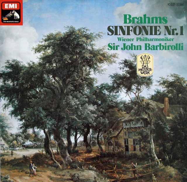 バルビローリのブラームス/交響曲第1番  独EMI  2924 LP レコード