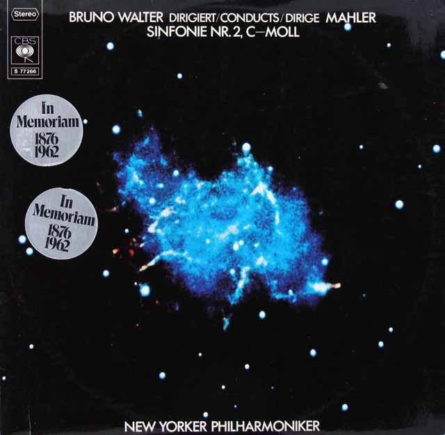 ワルターのマーラー/交響曲第2番「復活」  独CBS  2924 LP レコード