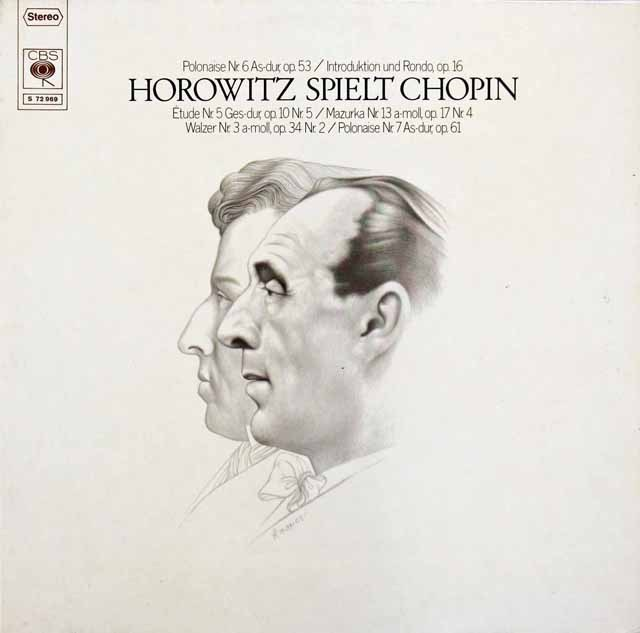 ホロヴィッツのショパン/「幻想ポロネーズ」ほか 独CBS 2924 LP レコード