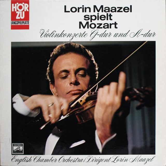 マゼールのモーツァルト/ヴァイオリン協奏曲第3&5番   独EMI 3228 LP レコード