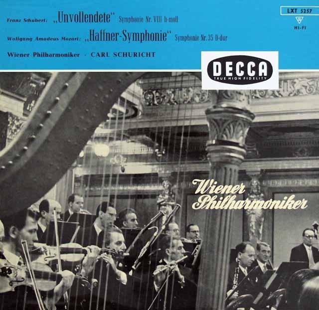 シューリヒトのシューベルト/交響曲「未完成」ほか 独DECCA 2924 LP レコード