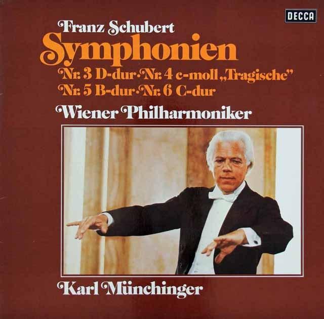 ミュンヒンガーのシューベルト/交響曲第3~6番 独DECCA 2924 LP レコード