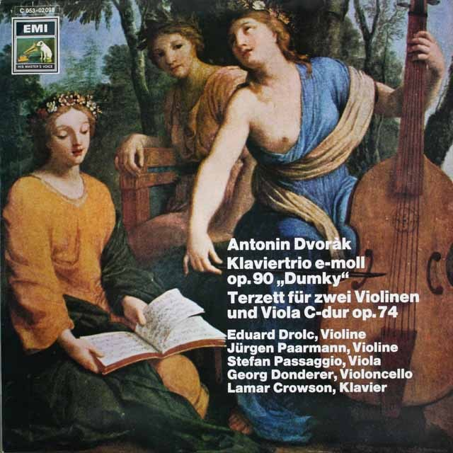 ドロルツらのドヴォルザーク/ピアノ三重奏曲「ドォムキー 」 ほか 独EMI 3228 LP レコード