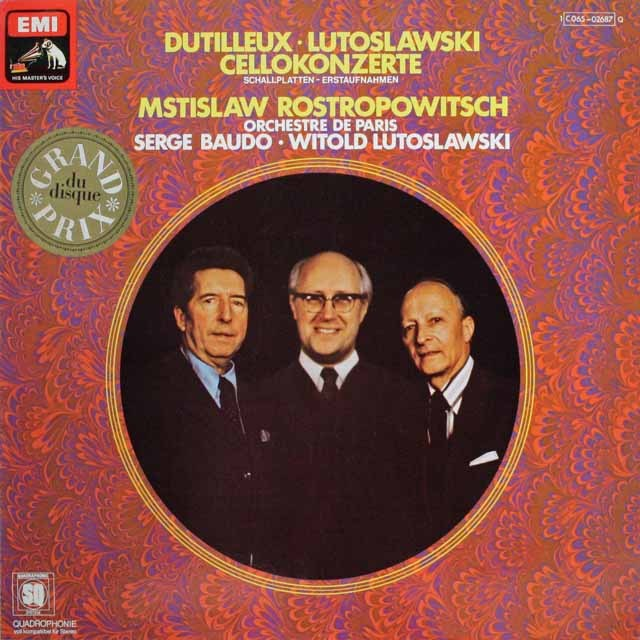 ロストロポーヴィチのルトフスワスキ/チェロ協奏曲ほか 独EMI 3228 LP レコード