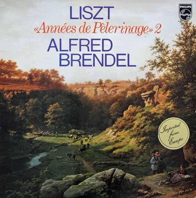 ブレンデルのリスト/巡礼の年 第2年イタリア 蘭PHILIPS 3281 LP レコード