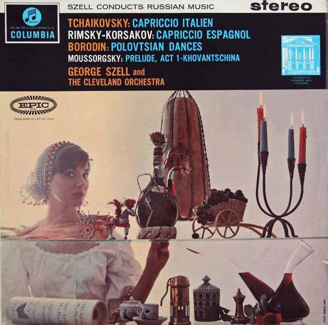 【オリジナル盤】セルのチャイコフスキー/イタリア奇想曲ほか 英Columbia 2916 LP レコード
