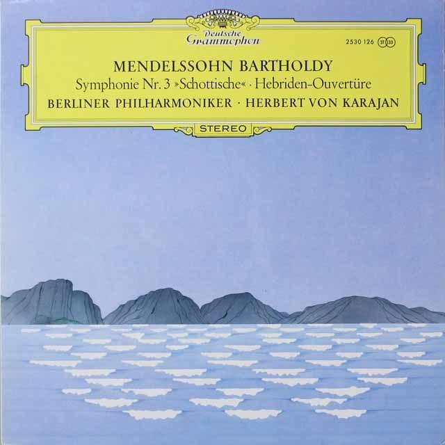 カラヤンのメンデルスゾーン/交響曲第3番「スコットランド」ほか  独DGG  2638 LP レコード