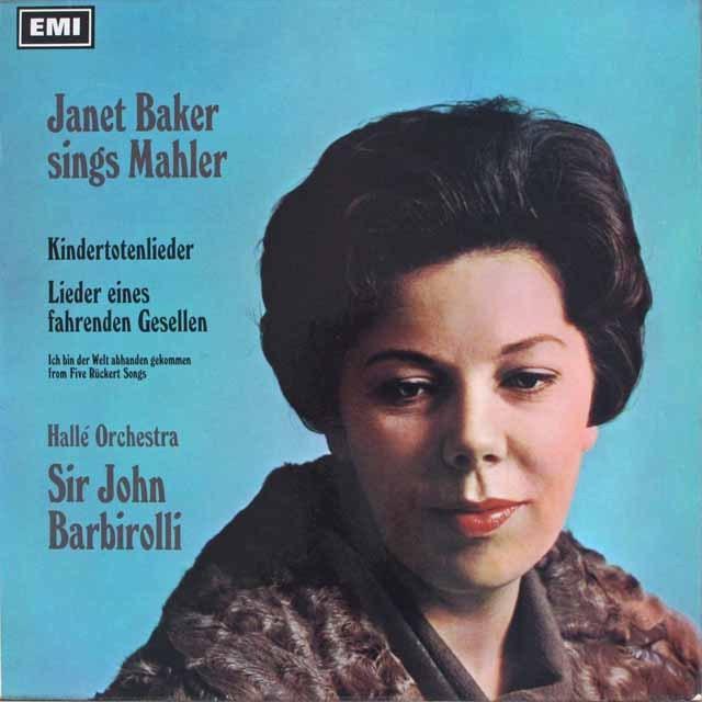 ベイカー&バルビローリのマーラー/「亡き子をしのぶ歌」&「さすらう若人の歌」 独EMI 3228 LP レコード