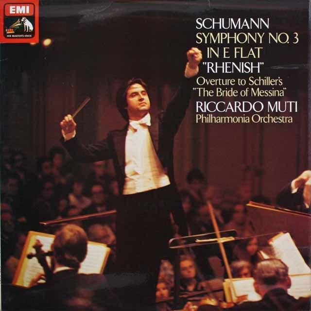 【オリジナル盤】 ムーティのシューマン/交響曲第3番「ライン」 英EMI 3228 LP レコード