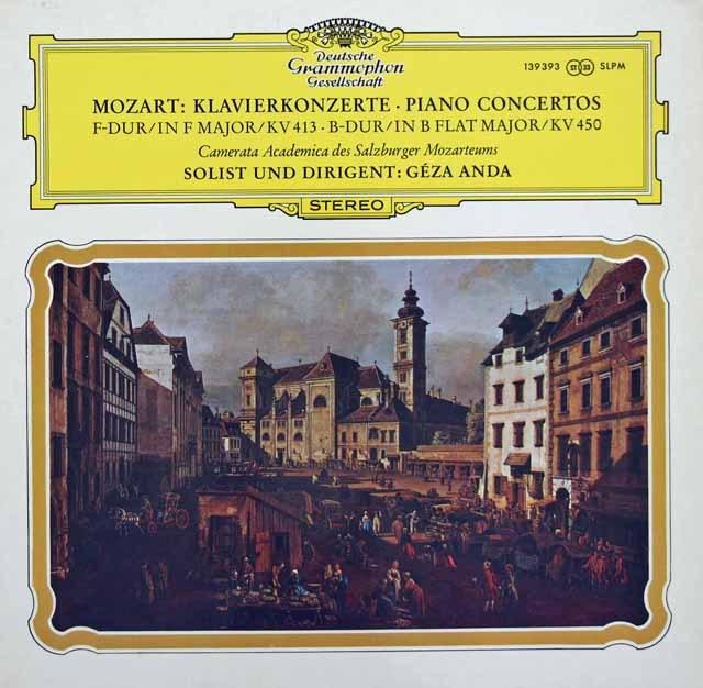 アンダのモーツァルト/ピアノ協奏曲第15&11番 独DGG 3281 LP レコード