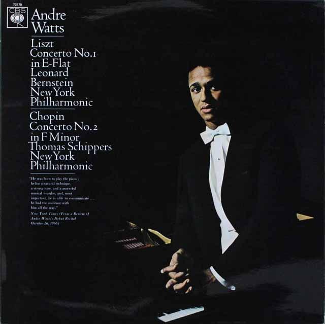 ワッツ&バーンスタインのリスト/ピアノ協奏曲第1番ほか 英CBS 3229 LP レコード
