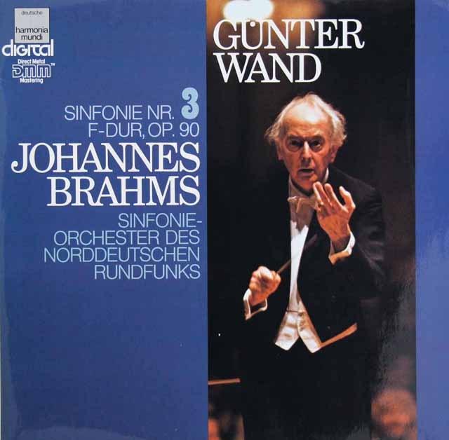 ヴァントのブラームス/交響曲第3番 独HM 3294 LP レコード
