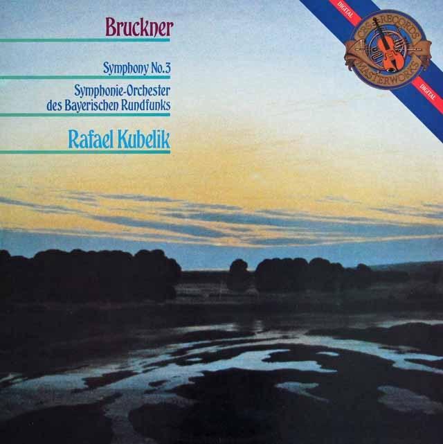 クーベリックのブルックナー/交響曲第3番 蘭CBS 3294 LP レコード