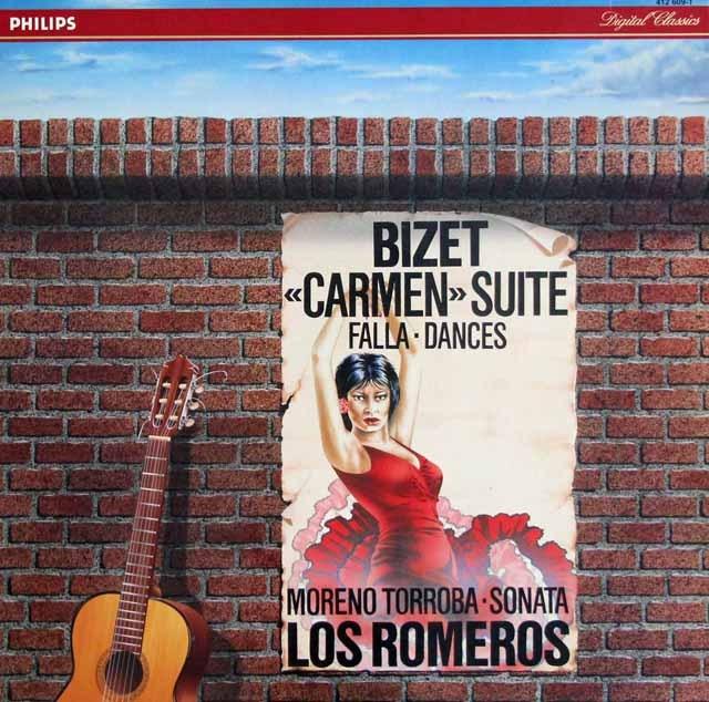 ロス・ロメロスのビゼー/「カルメン」組曲ほか 蘭PHILIPS 3294 LP レコード