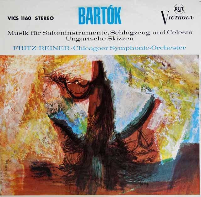 ライナーのバルトーク/弦楽器と打楽器とチェレスタのための音楽 独RCA 2842 LP レコード