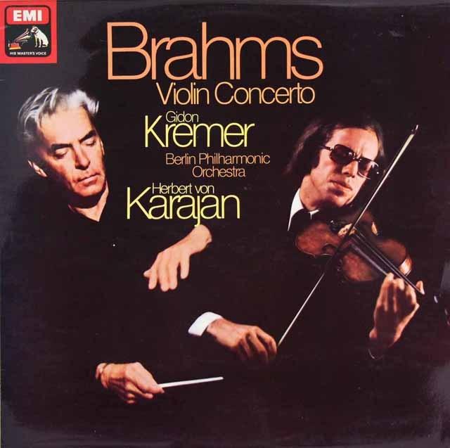 【オリジナル盤】 クレーメル&カラヤンのブラームス/ヴァイオリン協奏曲 英EMI 3294 LP レコード