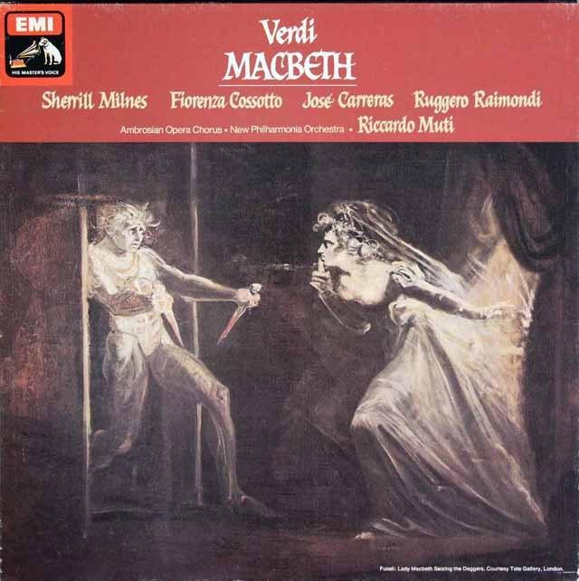 【オリジナル盤】 ムーティのヴェルディ/「マクベス」全曲 英EMI 3294 LP レコード